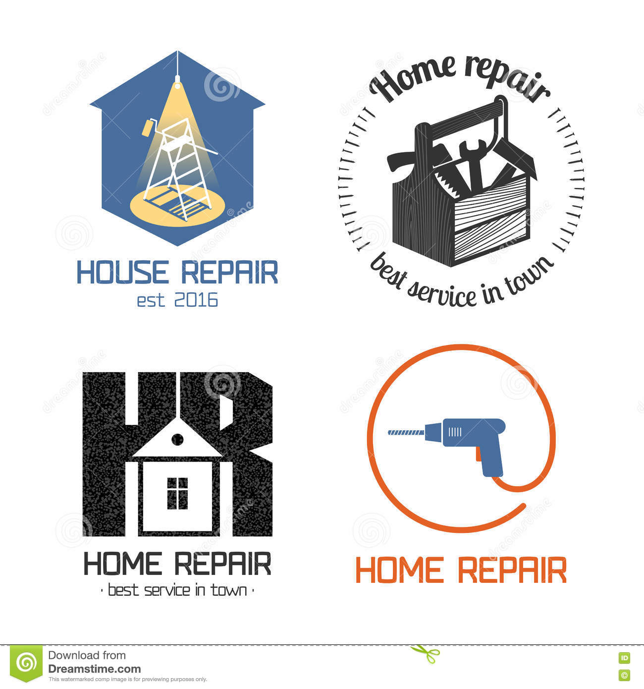 Home remodeling logo remodeling logo clipart - Set Of Home Repair House Remodel Vector Icon Symbol Sign Logo Stock