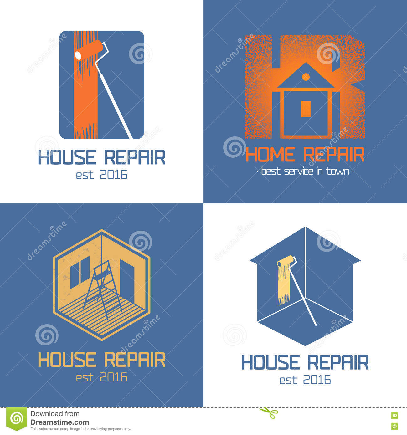 Set Of Home Repair House Renovation Vector Icon Symbol