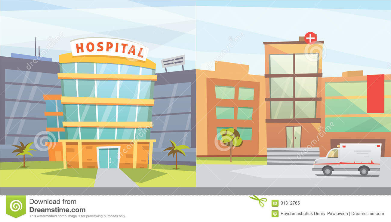 Patient cartoons illustrations vector stock images for Exterior background