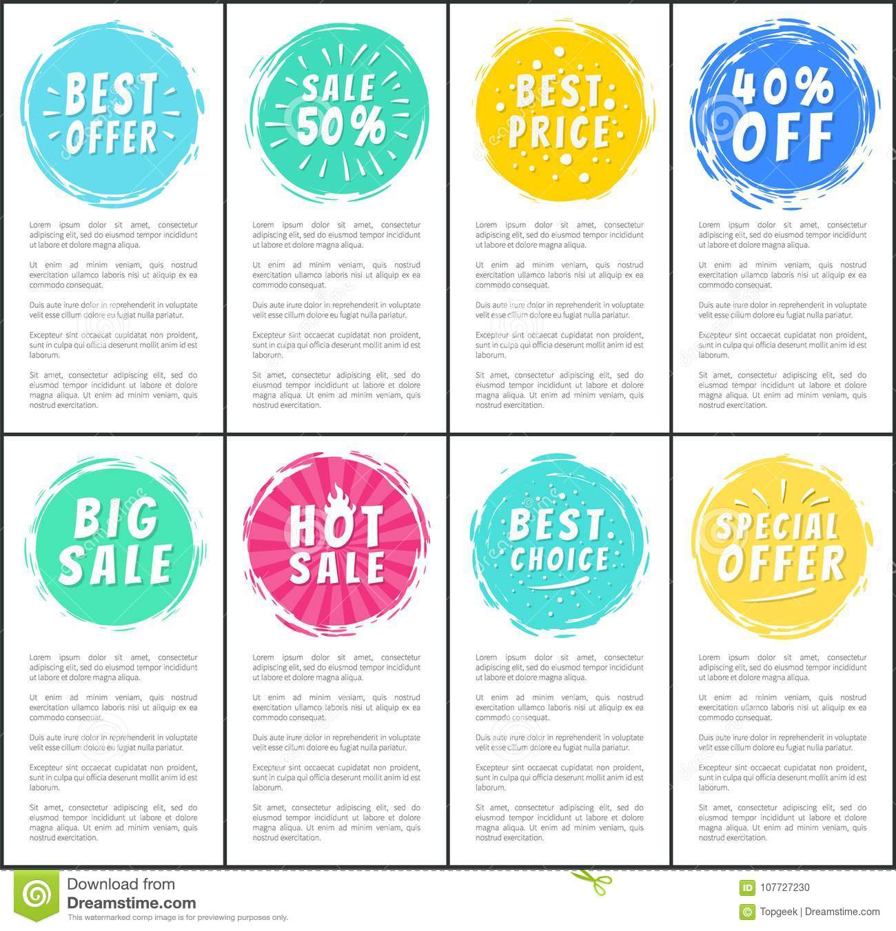Set Of Hot Sale Best Price Advertising Banners Stock Vector ...