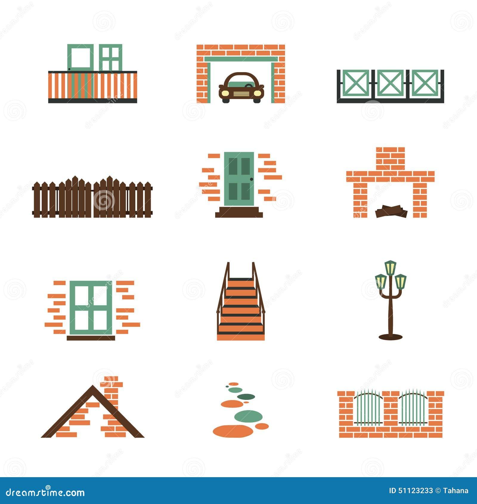 set of house elements isolated stock illustration illustration of Home Decor Elements set of house elements isolated