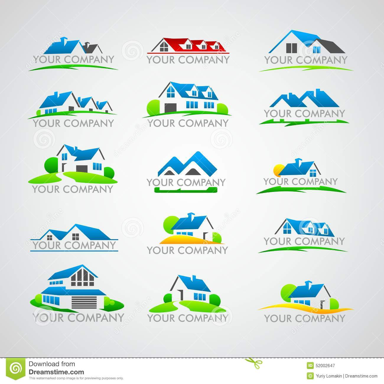 Set of house logo stock vector image 52002647 for Firm company