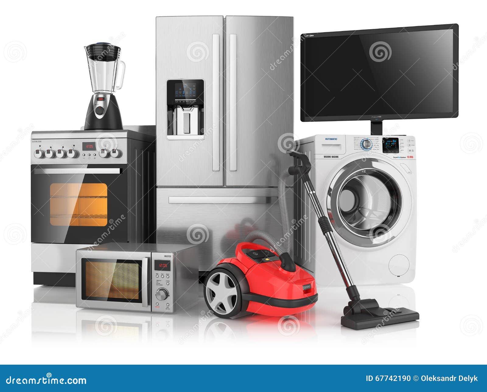 Household Kitchen Appliances ~ Set of household kitchen appliances stock illustration