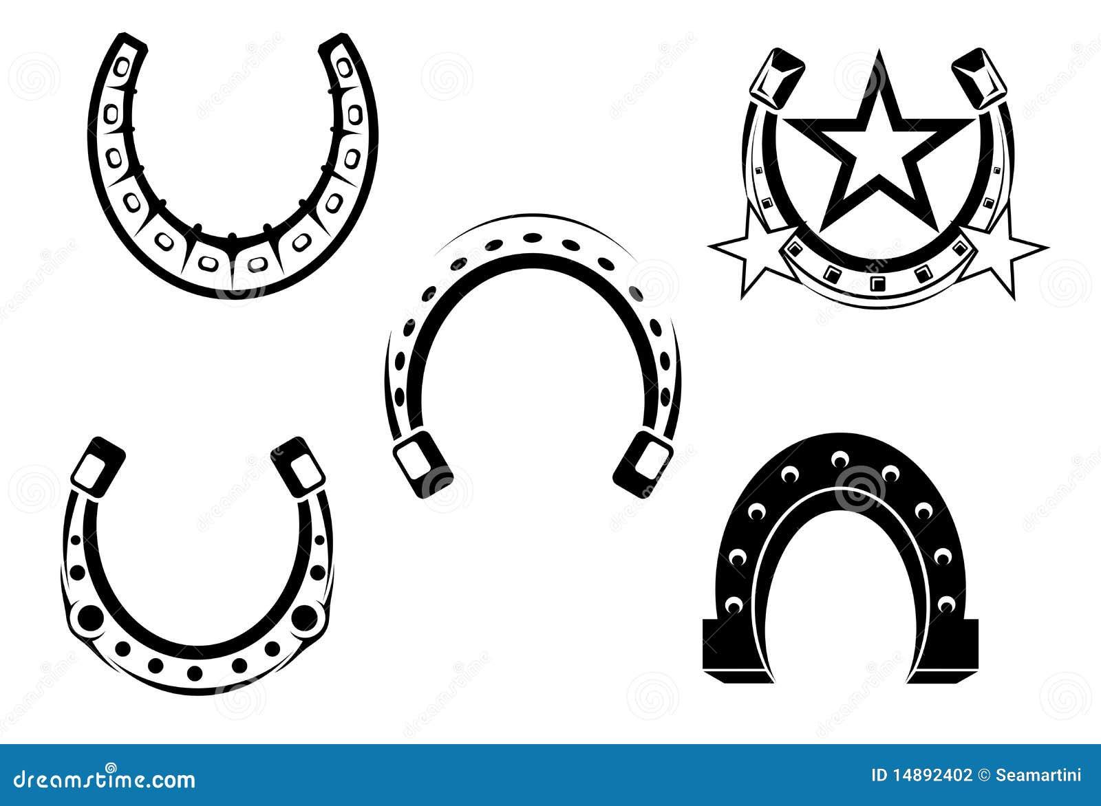 set hufeisen vektor abbildung illustration von schutz