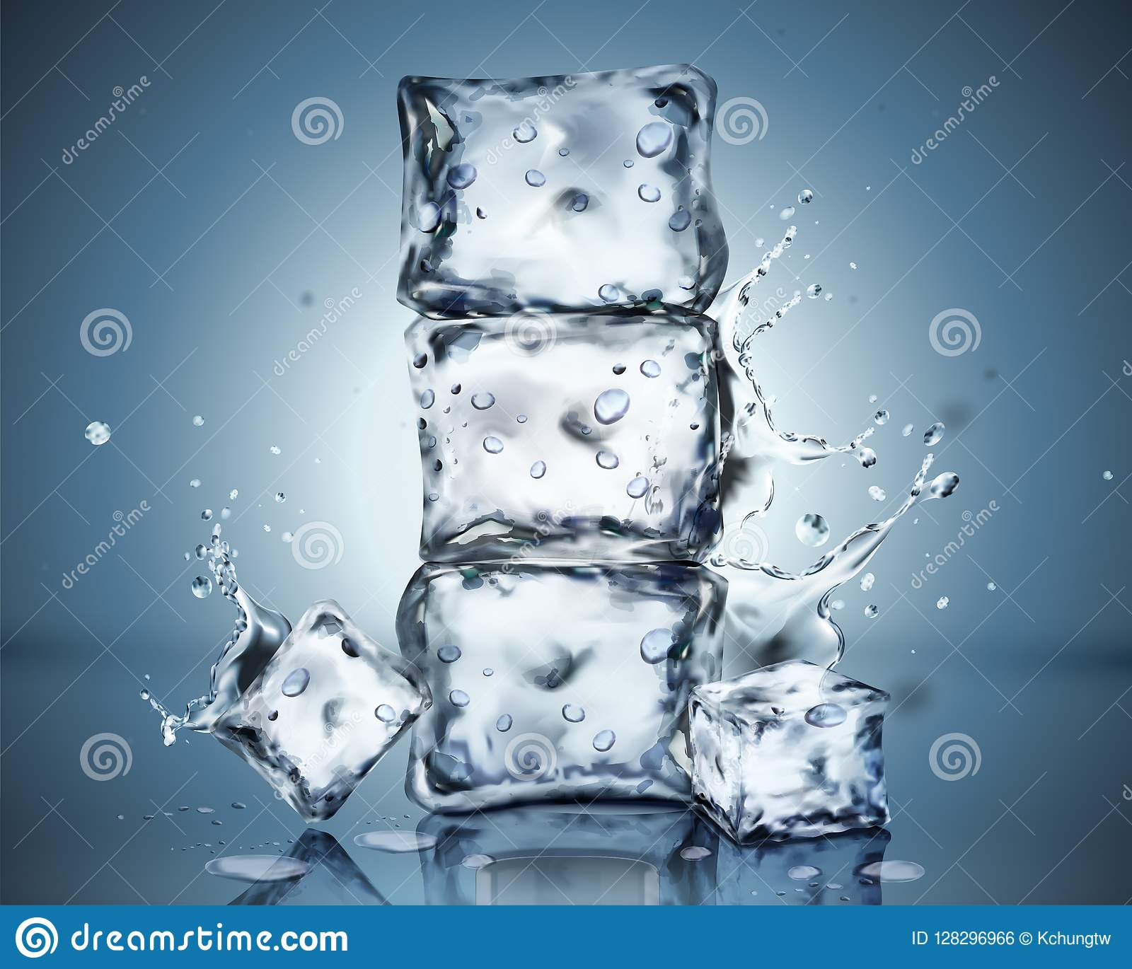 Set Of Ice Cubes Special Effects Stock Vector - Illustration of