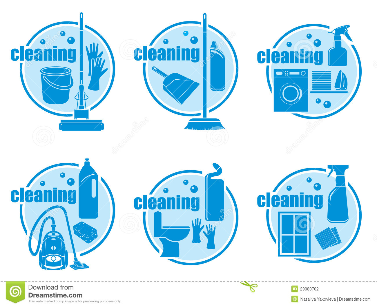 Set Of Icon Cleaning Stock Photography Image 29080702