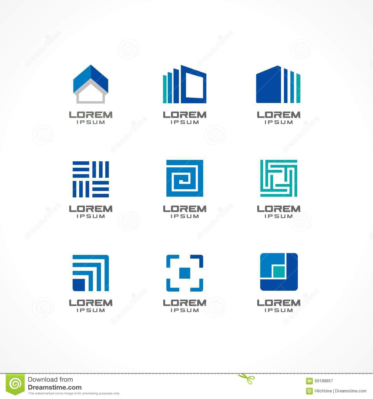 Set Of Icon Design Elements. Abstract Logo Ideas For ...