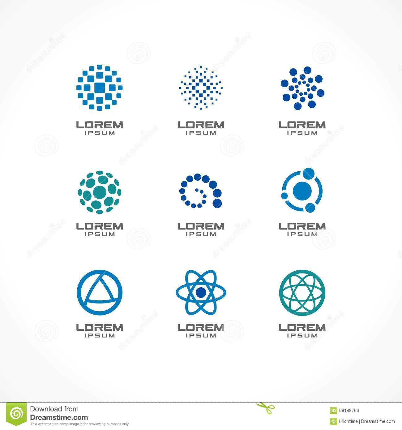 set of icon design elements abstract logo ideas for business company