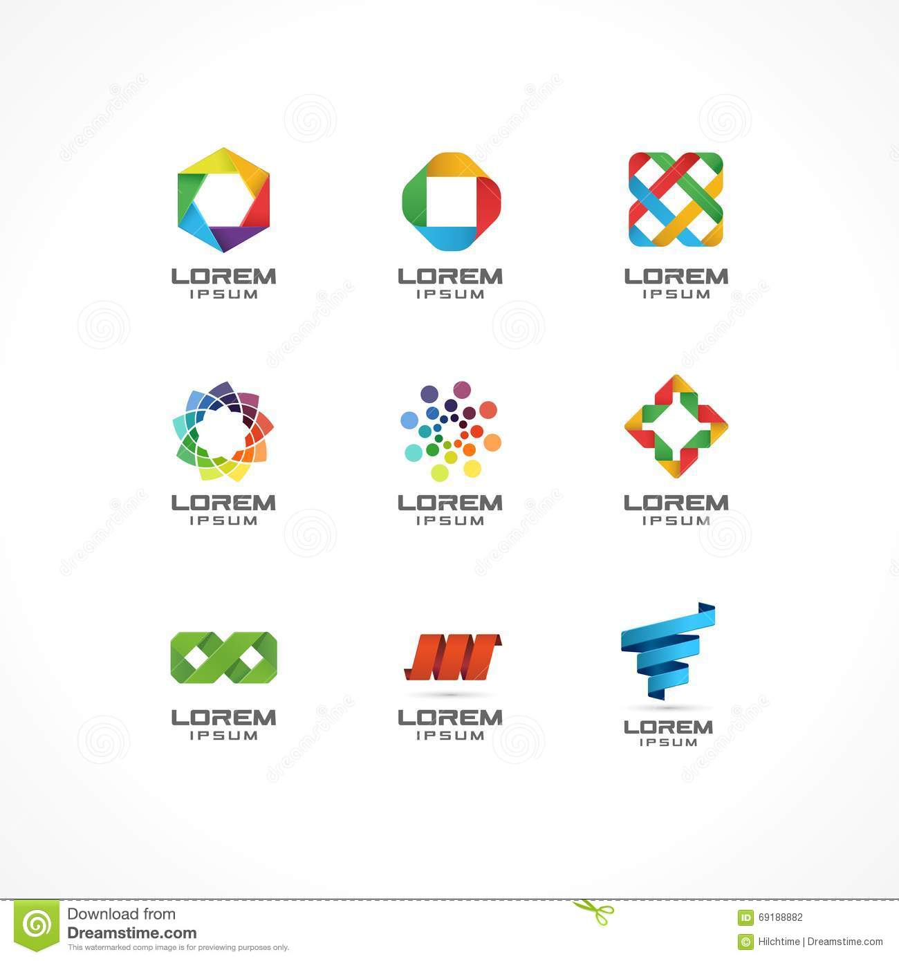 set of icon design elements abstract logo ideas for