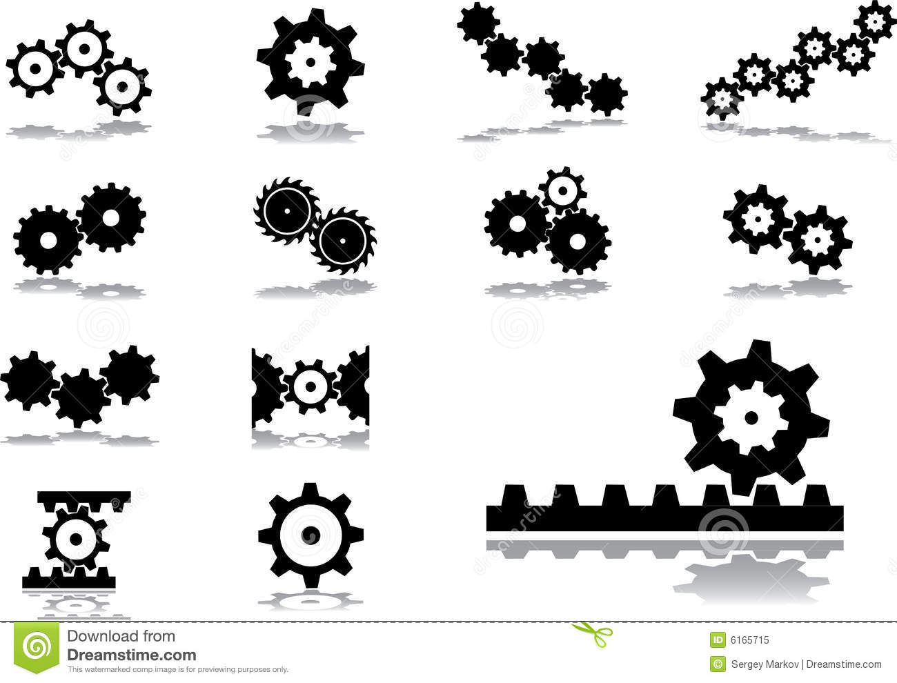 Set icons - 51. Gears
