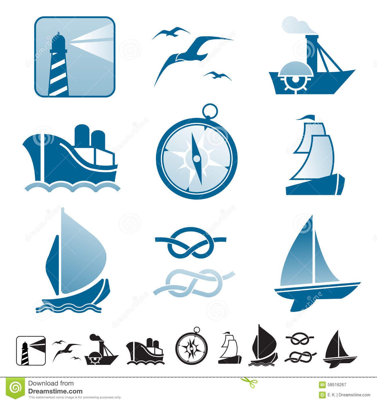 set of icons with boats silhouettes stock vector illustration of