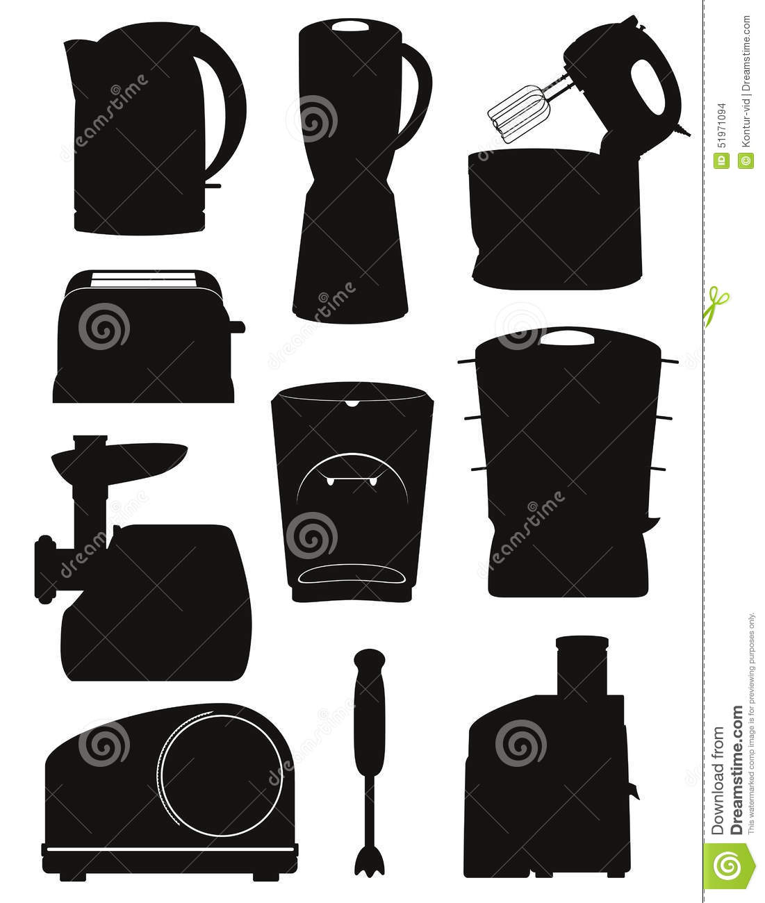 Uncategorized Appliances For The Kitchen set icons electrical appliances for the kitchen black silhouette stock vector