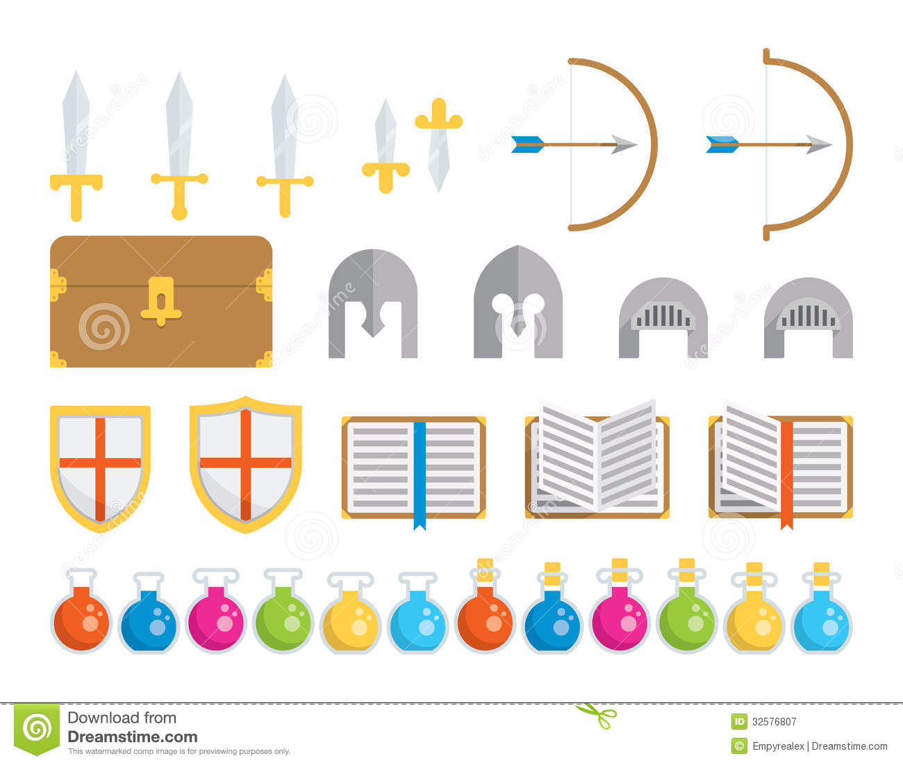 Medieval Lord Clipart Set Of Icons - Fantasy...