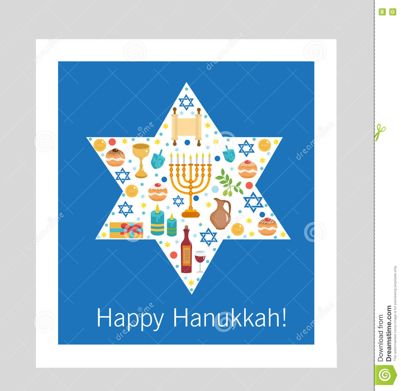 Set icons of hanukkah happy hanukkah hanukkah greeting card set icons of hanukkah happy hanukkah hanukkah greeting card cartoon icons flat style traditional symbols of jewish culture buycottarizona Images