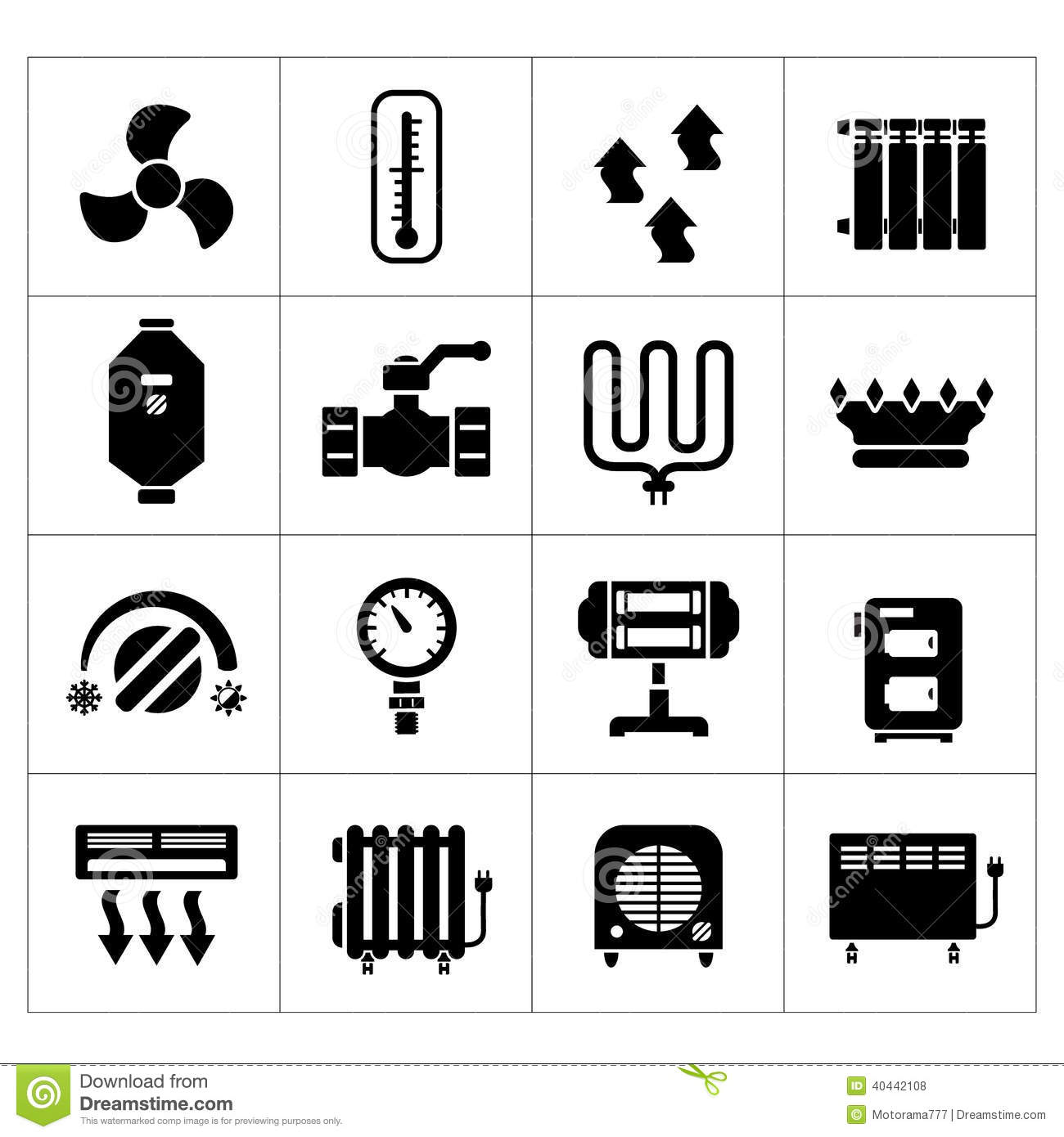 Set Icons Of Heating Stock Vector Image 40442108
