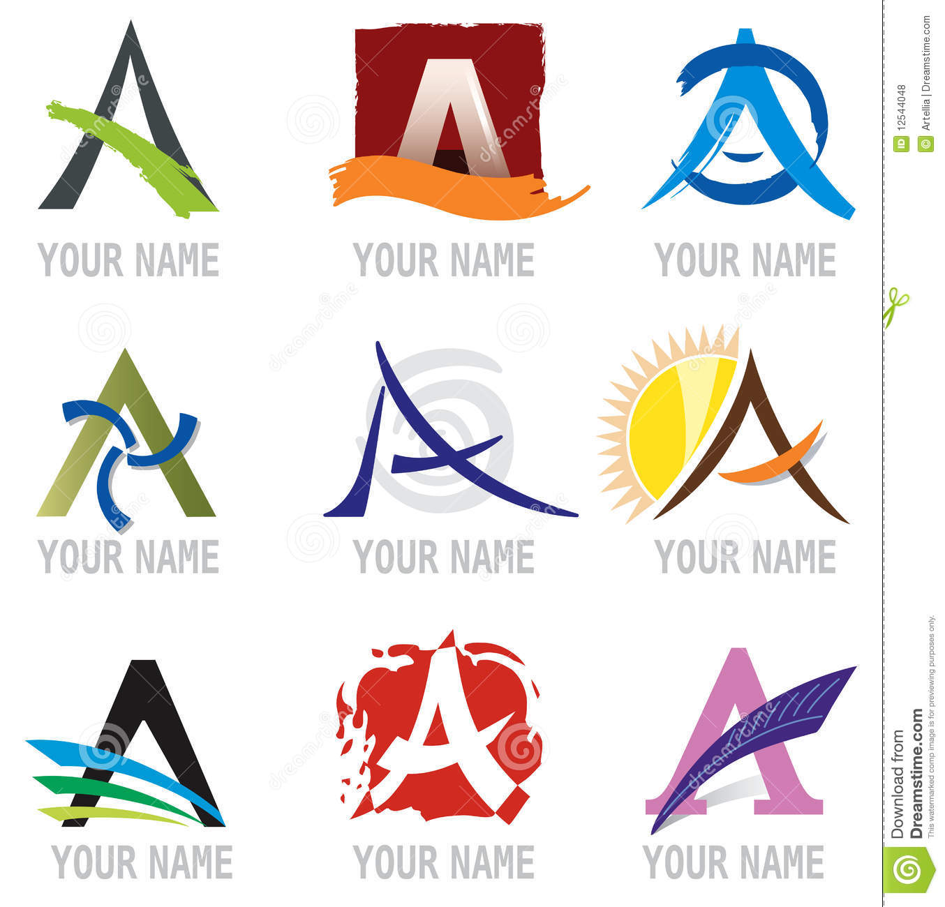 and Logo Elements Letter A  A Logo