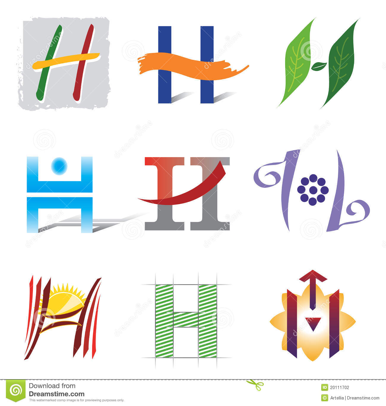 Set of icons and logo elements letter h stock vector set of icons and logo elements letter h thecheapjerseys Choice Image