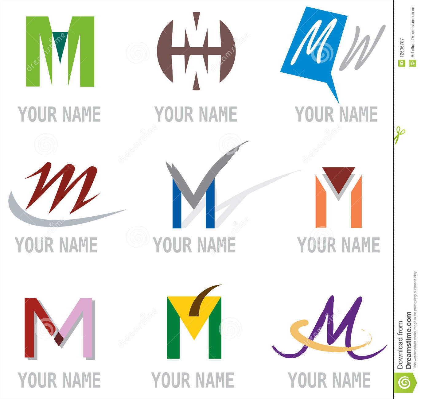 M Logo and Logo Elements Letter M
