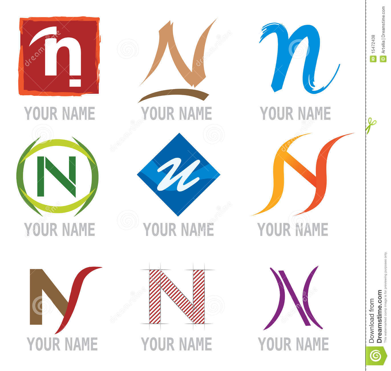 and Logo Elements Letter N  N Logos