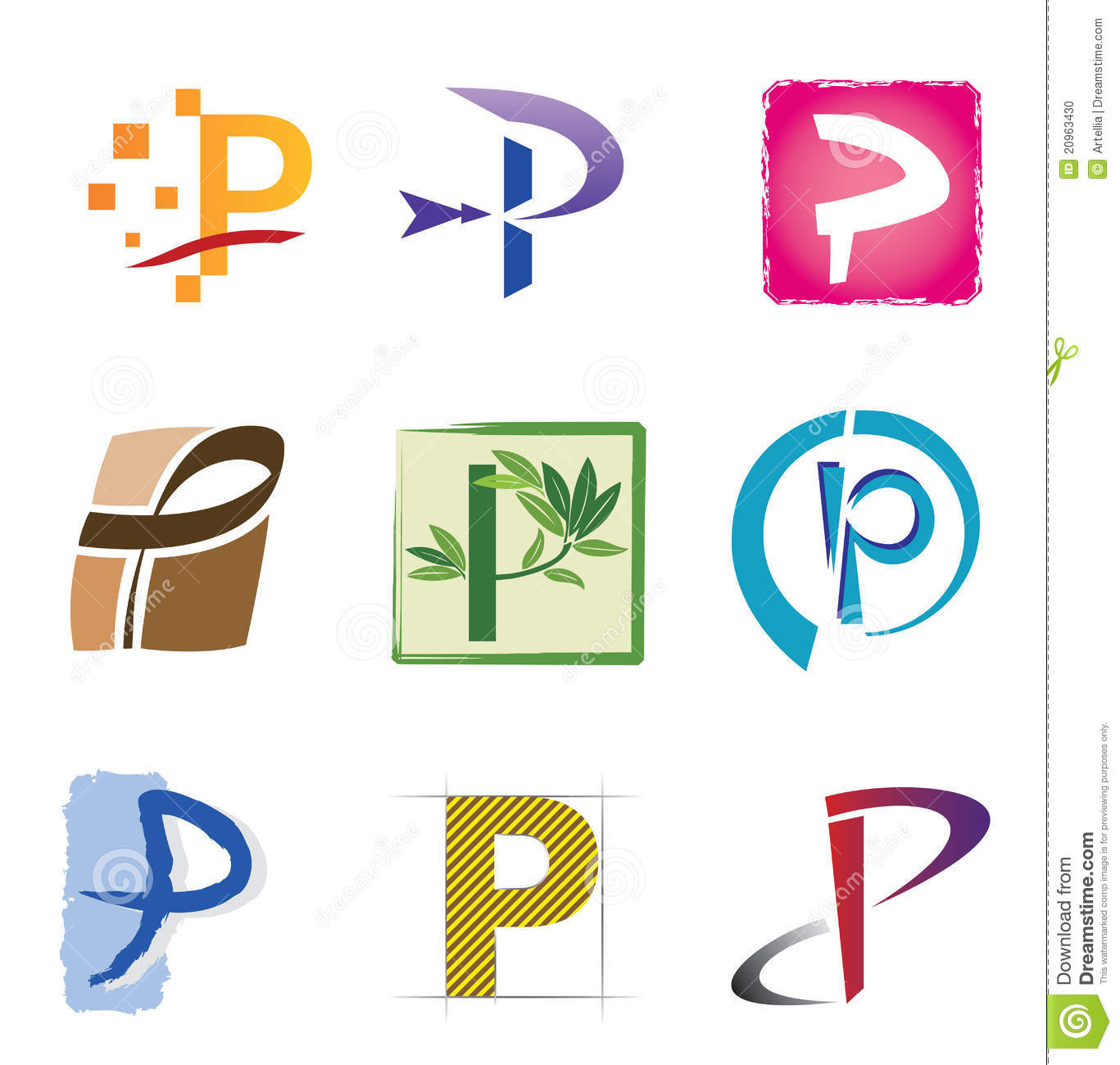 Stock Photo Set Icons Logo Elements Letter P Image20963430 on Letter Y Crafts
