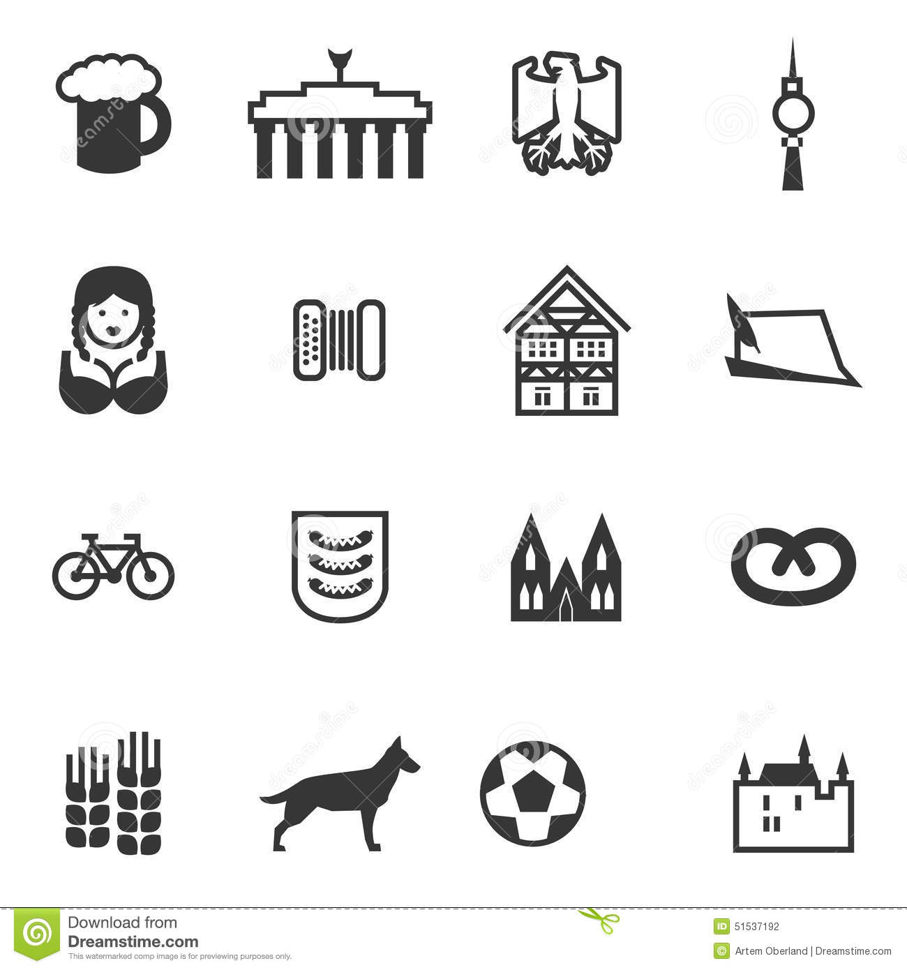 set of icons with signs of germany and berlin stock vector image 51537192. Black Bedroom Furniture Sets. Home Design Ideas