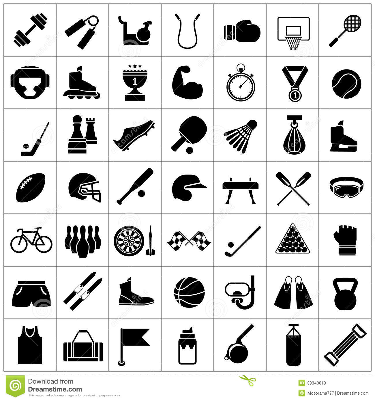 set icons of sports and fitness equipment stock vector vector hockey stick free ccm vector hockey stick