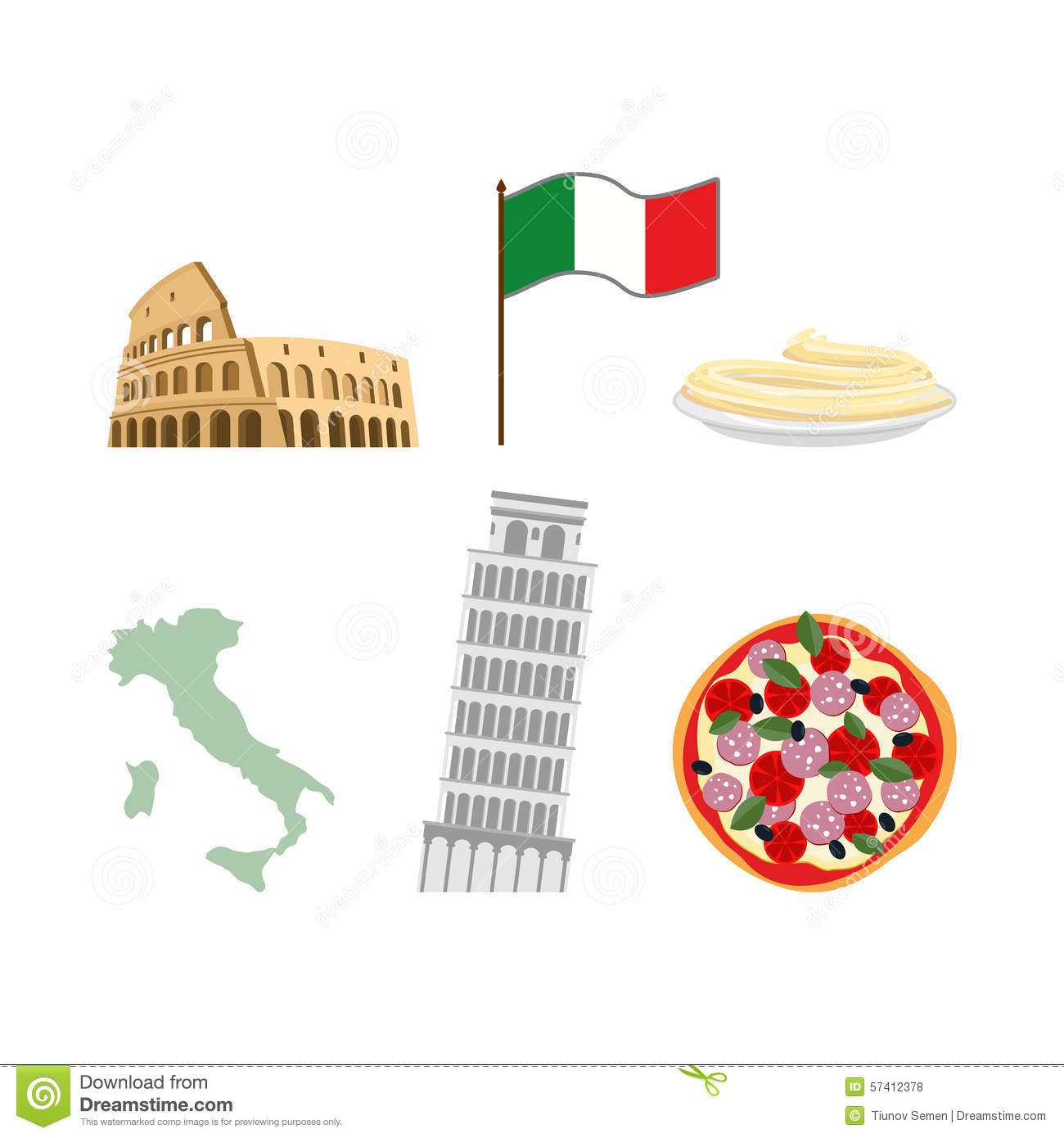 Set icons symbols of italy flag and map colosseum and leanin set icons symbols of italy flag and map colosseum and leanin biocorpaavc Images