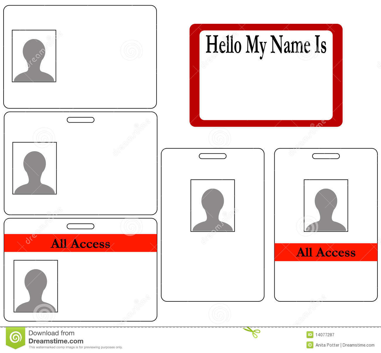 Set Of ID Badges Royalty Free Stock Photography - Image: 14077287