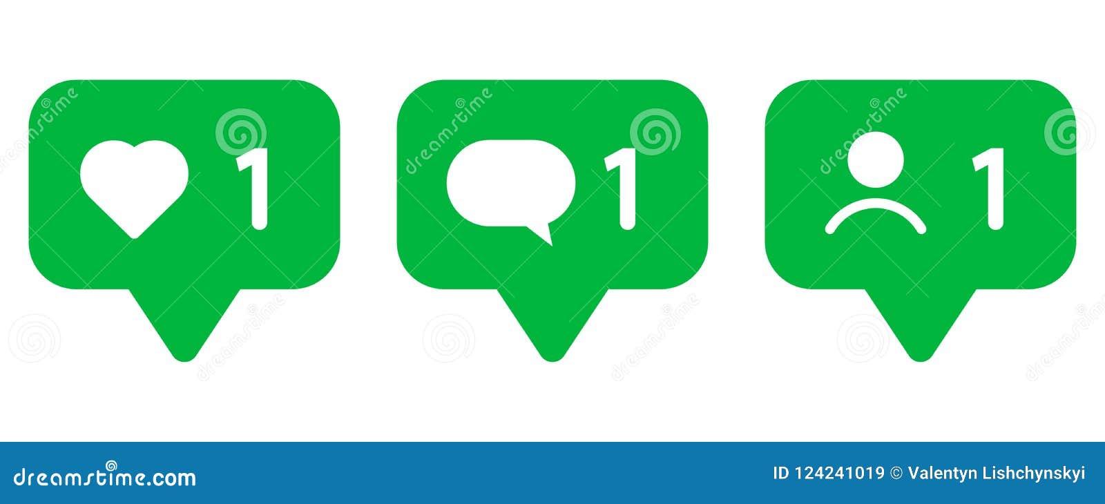 Set ikony dla ogólnospołecznych sieci Jak, wiadomość i użytkownik