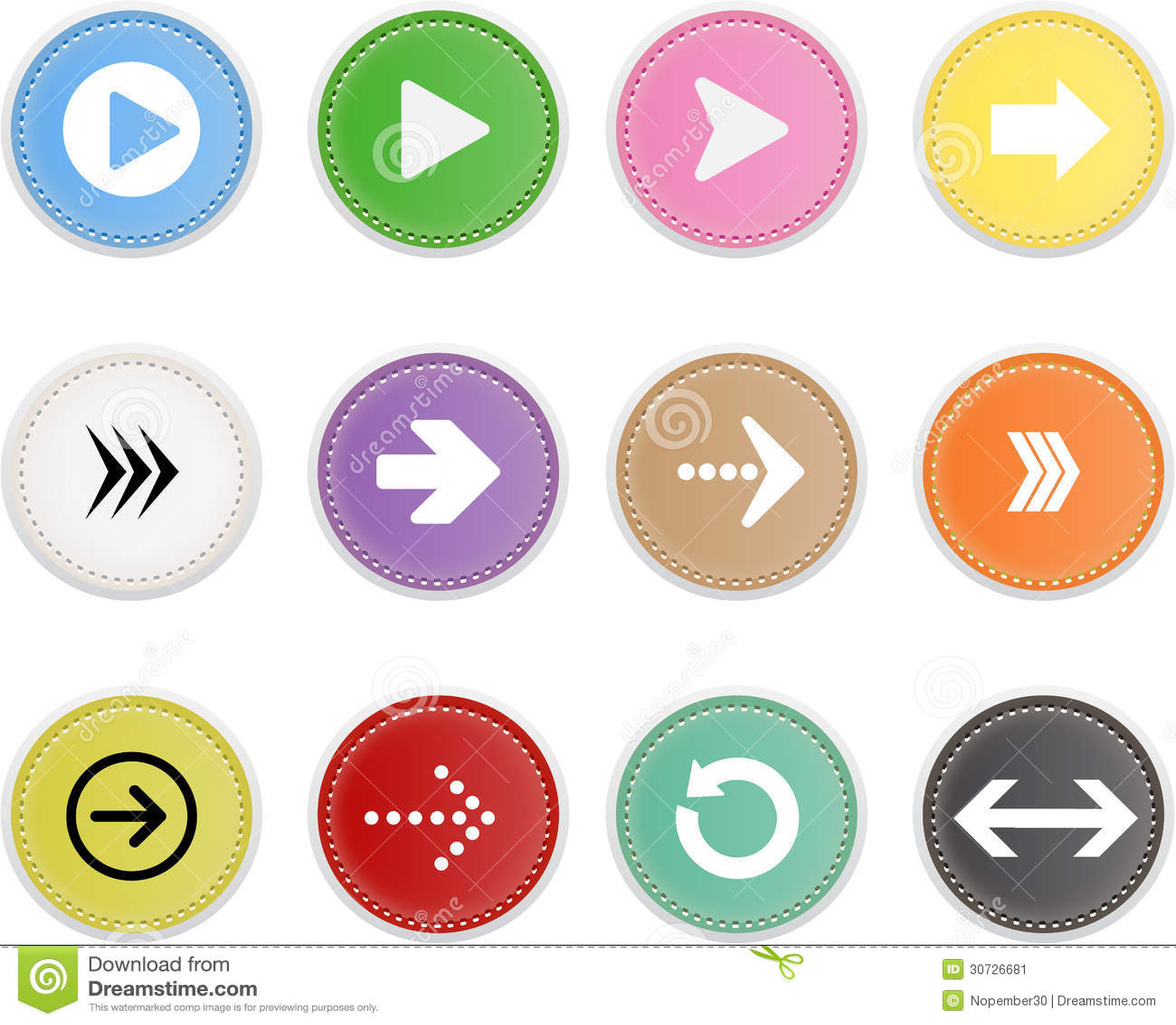Set ikony Strzałkowate