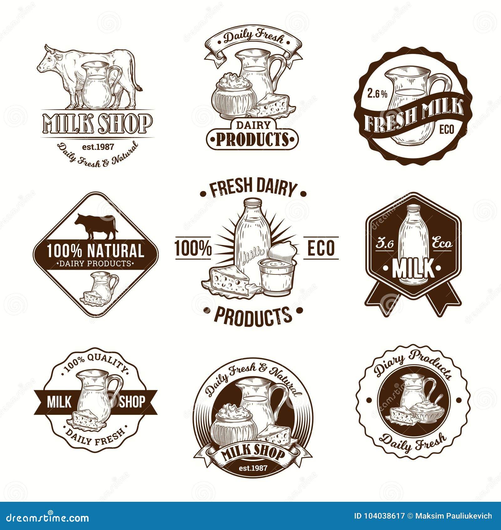 Set Of Illustrations , Badges , Stickers , Labels , Logo
