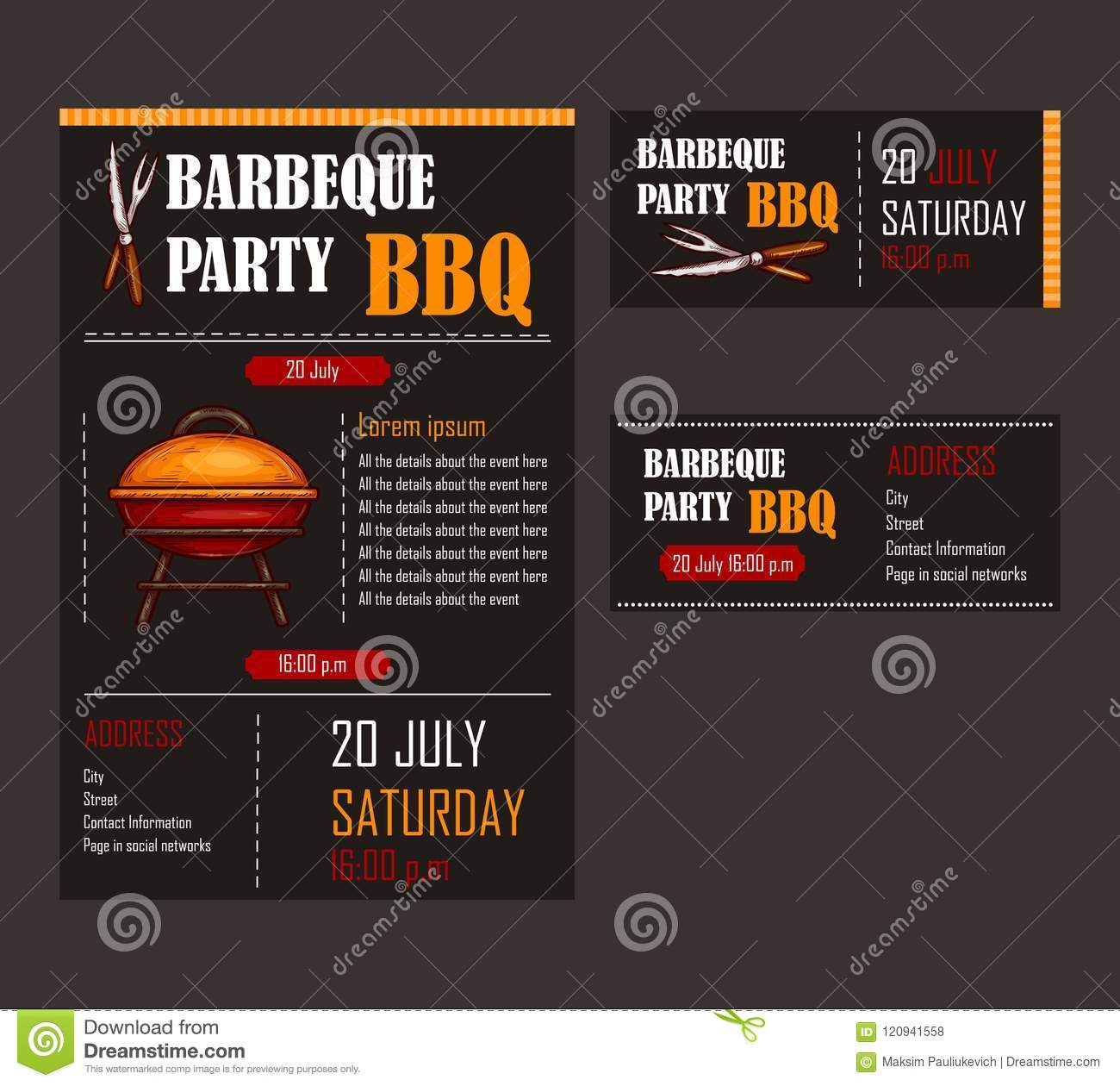 Menu template picnic party stock vector (royalty free) 200280644.