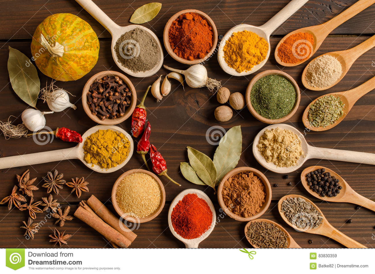 Indian spices set