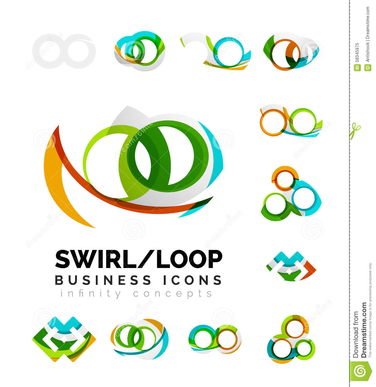 set of infinity concepts  loop logo designs stock vector infinity symbol clipart black and white infinity symbol clip art vector