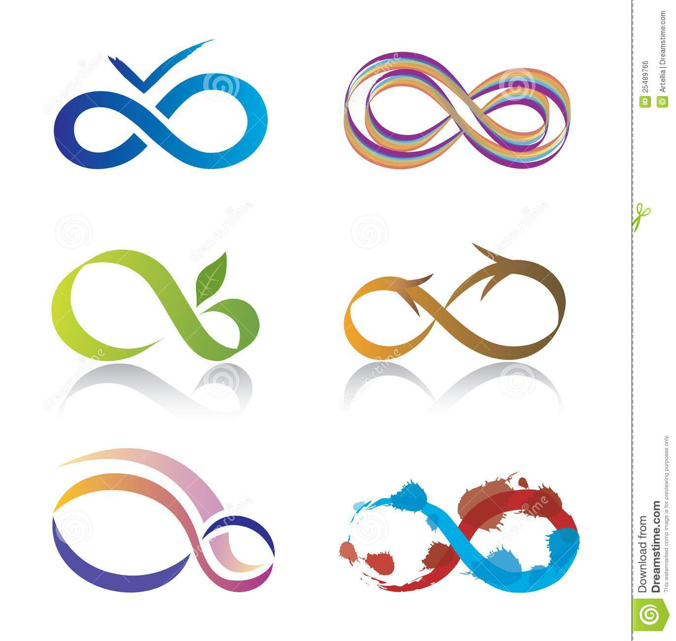 Set of infinity symbol icons stock vector illustration of wave set of infinity symbol icons buycottarizona