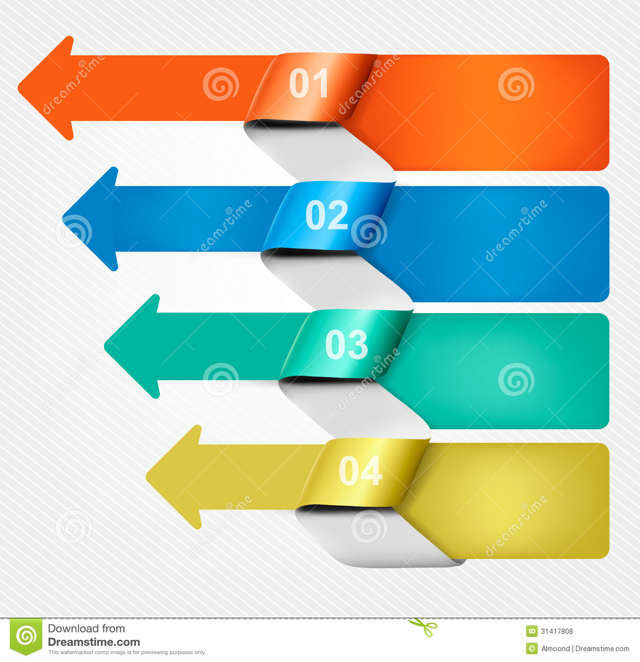 set of info graphics banners with numbers and icon stock vector