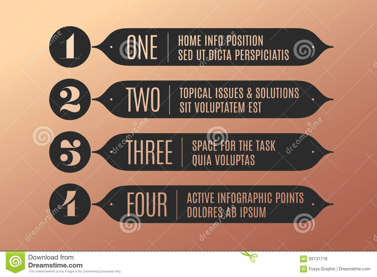 Design Vintage Bank.Set Of Infographic Design Vintage Arrows Banners Numbers And Text