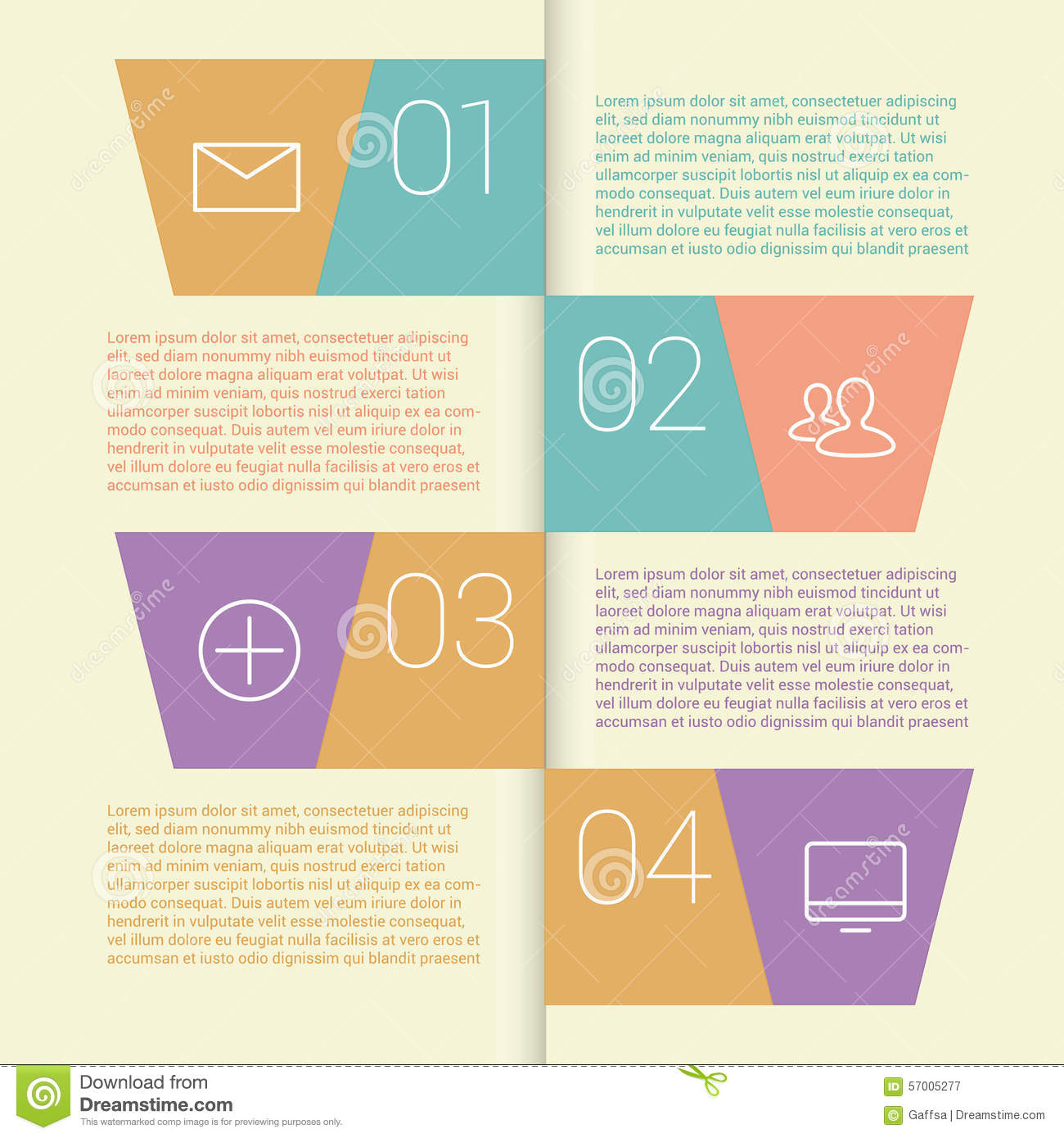 Set Of Infographic Template Layouts  Flow Chart Stock