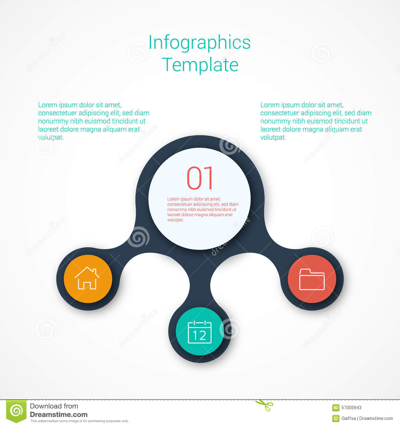set of infographic template layouts. flow chart stock vector