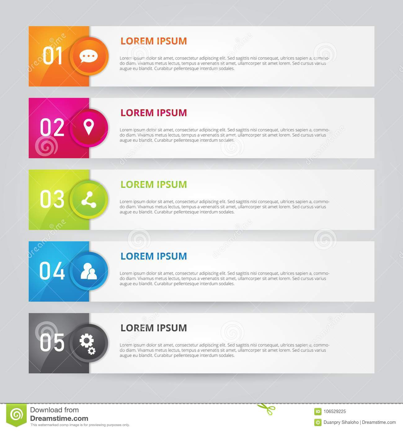set of infographics template. vector illustrator stock vector