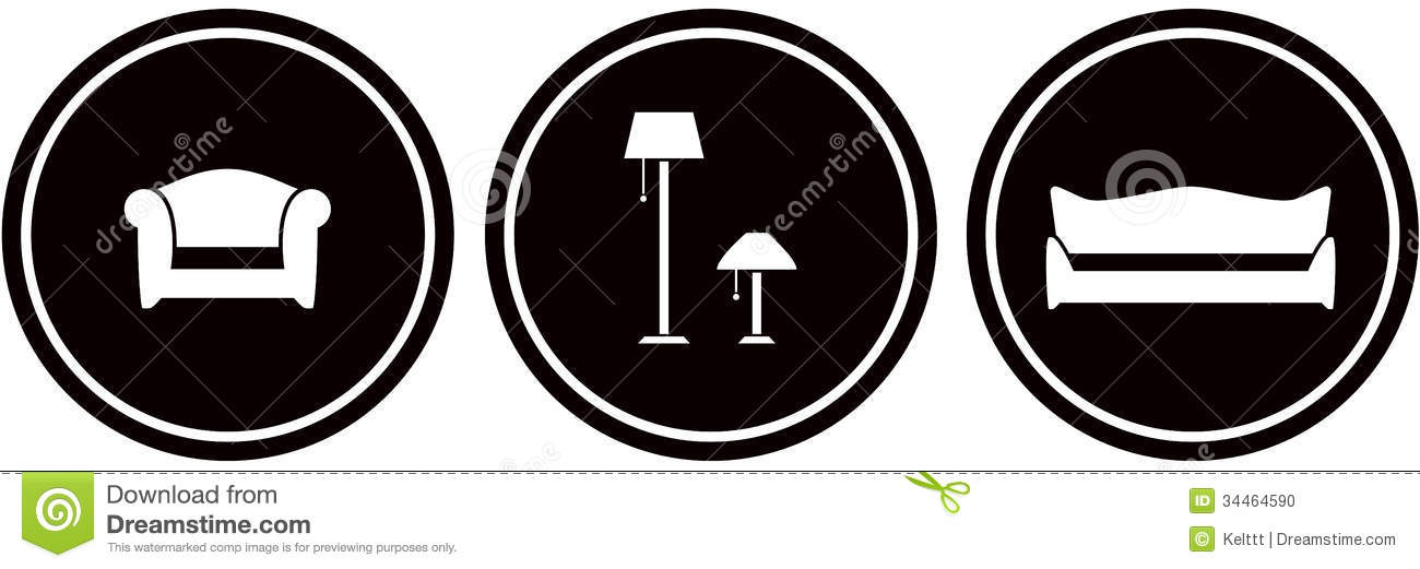 Set interior icons stock vector. Illustration of appointment - 34464590
