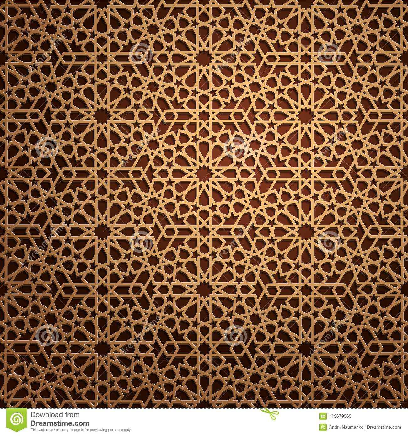Set of islamic oriental patterns, Seamless arabic geometric ornament collection. Vector traditional muslim background