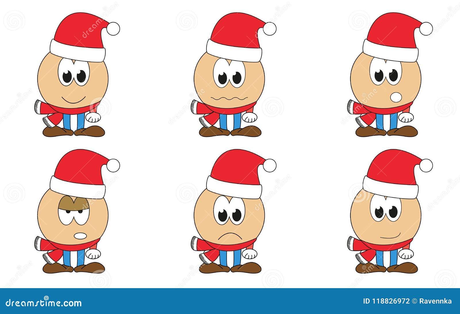 Santa Claus Emoticons Stock Illustrations