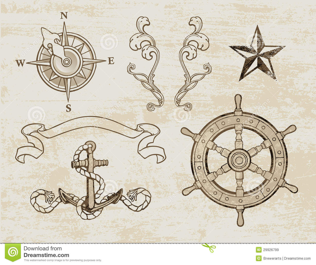 nautical design set royalty free stock images image