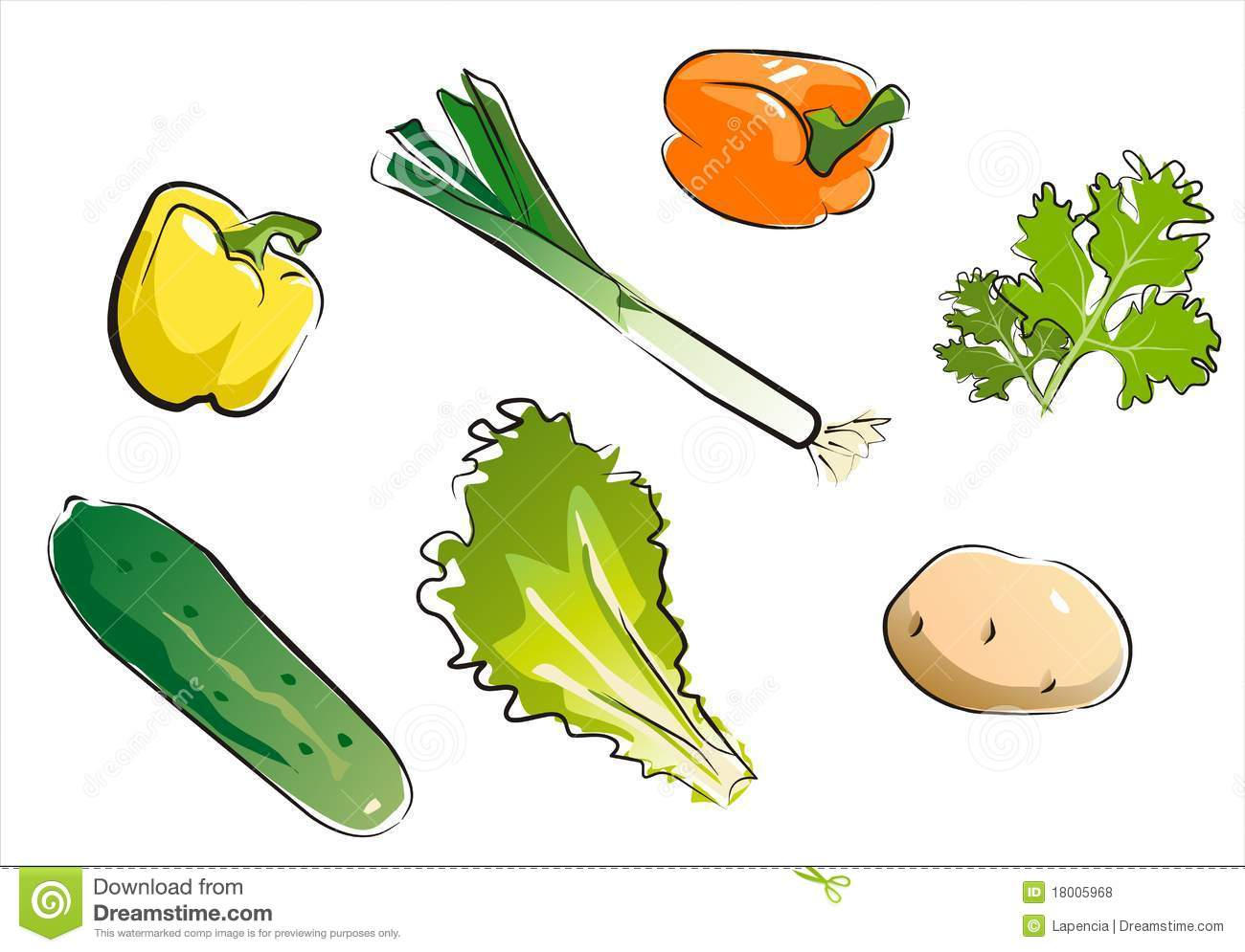 Set of isolated vegetables part 4.