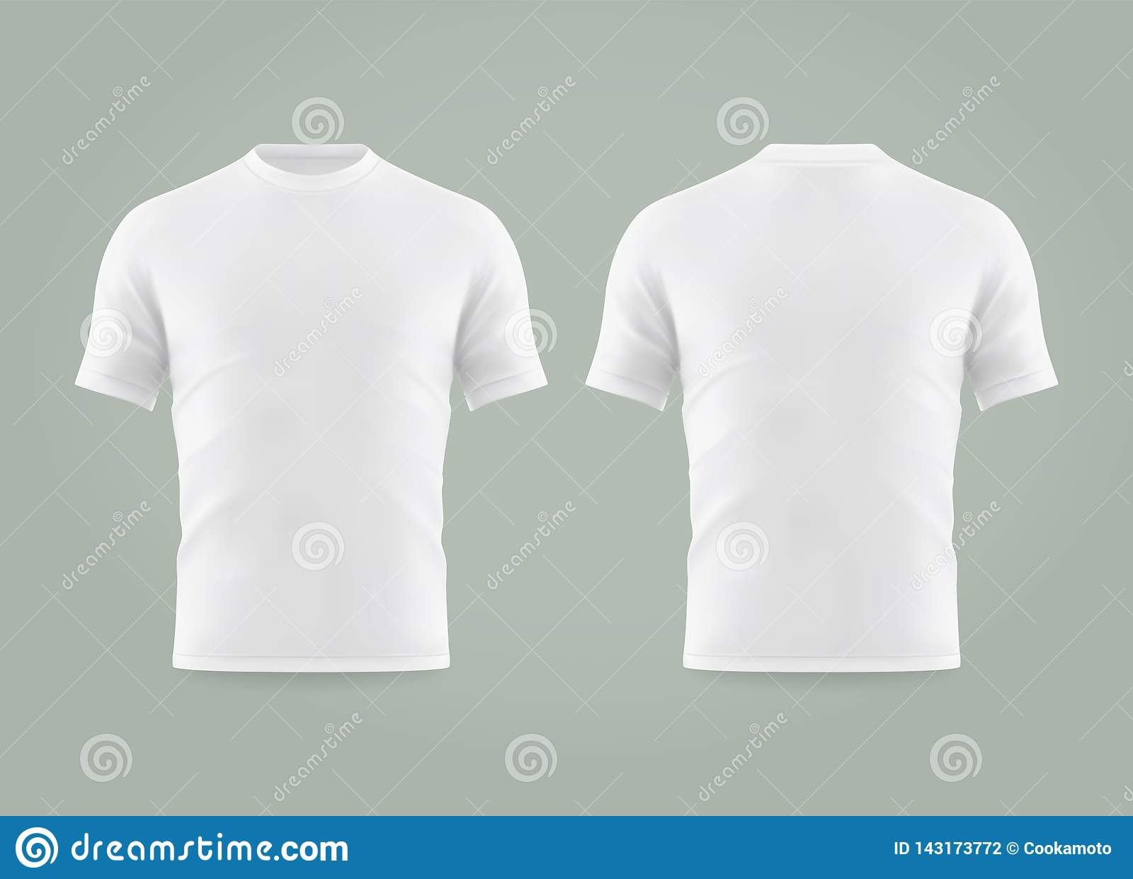 9ef55647e Set Of Isolated White T-shirt Or Realistic Apparel Stock Vector ...