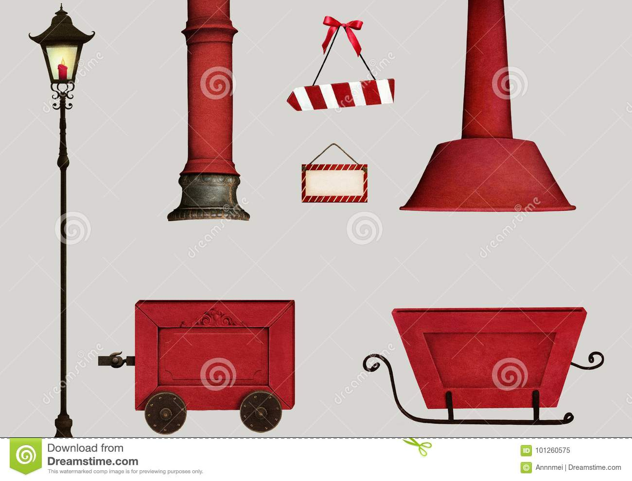 Set isolation christmas object stock image image of collection royalty free stock photo m4hsunfo Gallery