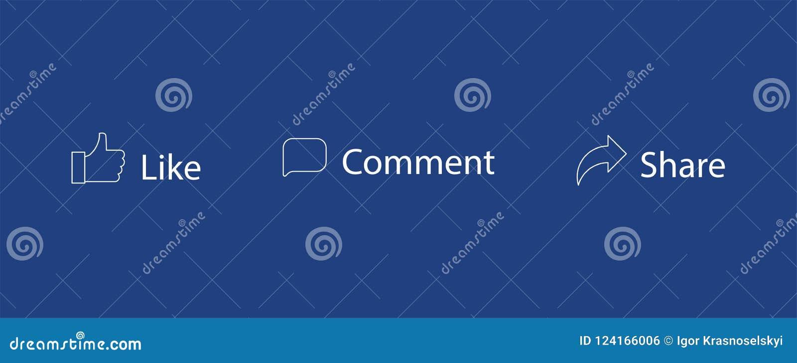 Set jak komentarz części wektoru ikony Kciuk up, wiadomość Ogólnospołeczne sieci ikony