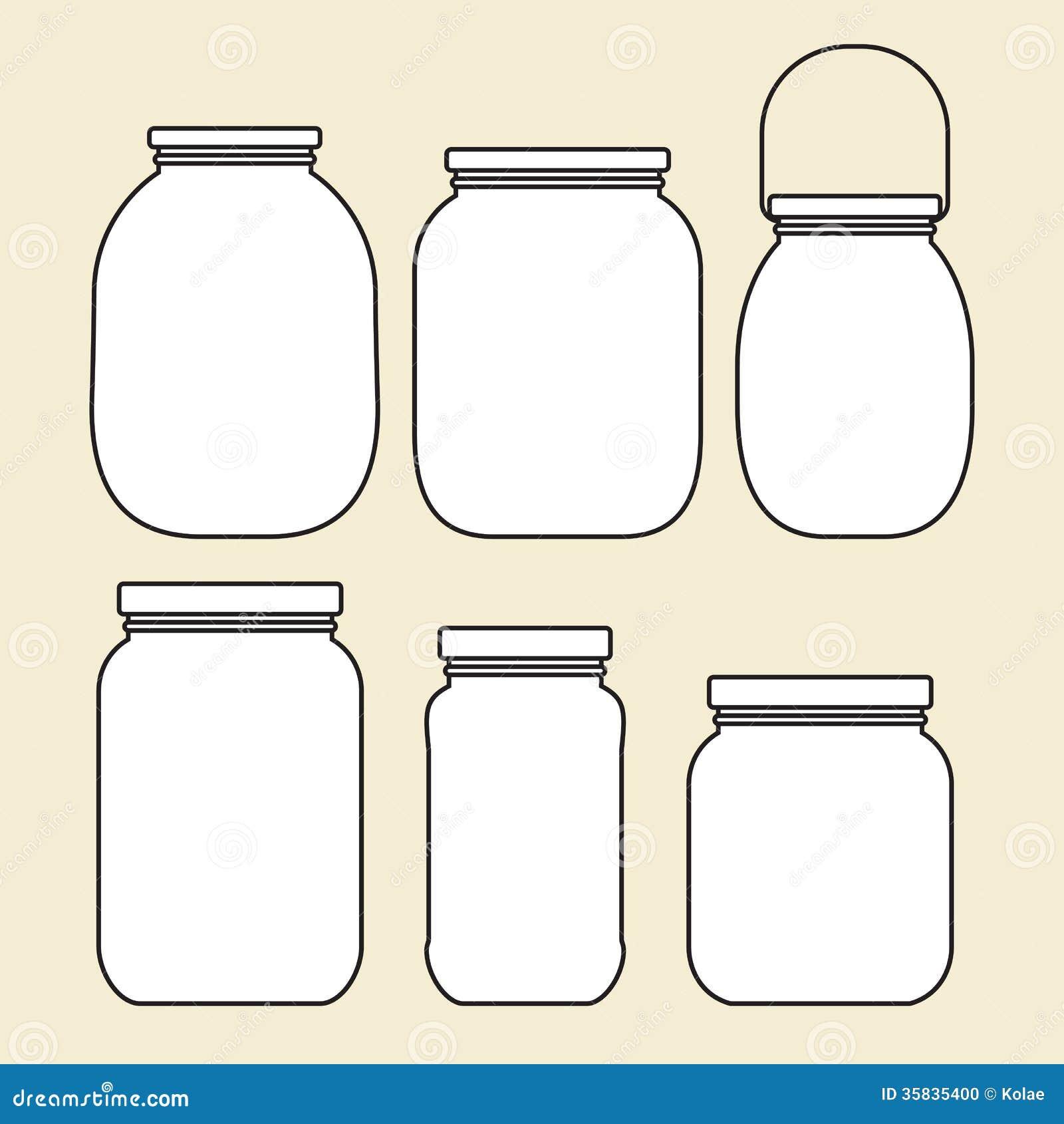 Set Of Jars Template Stock Photo - Image: 35835400