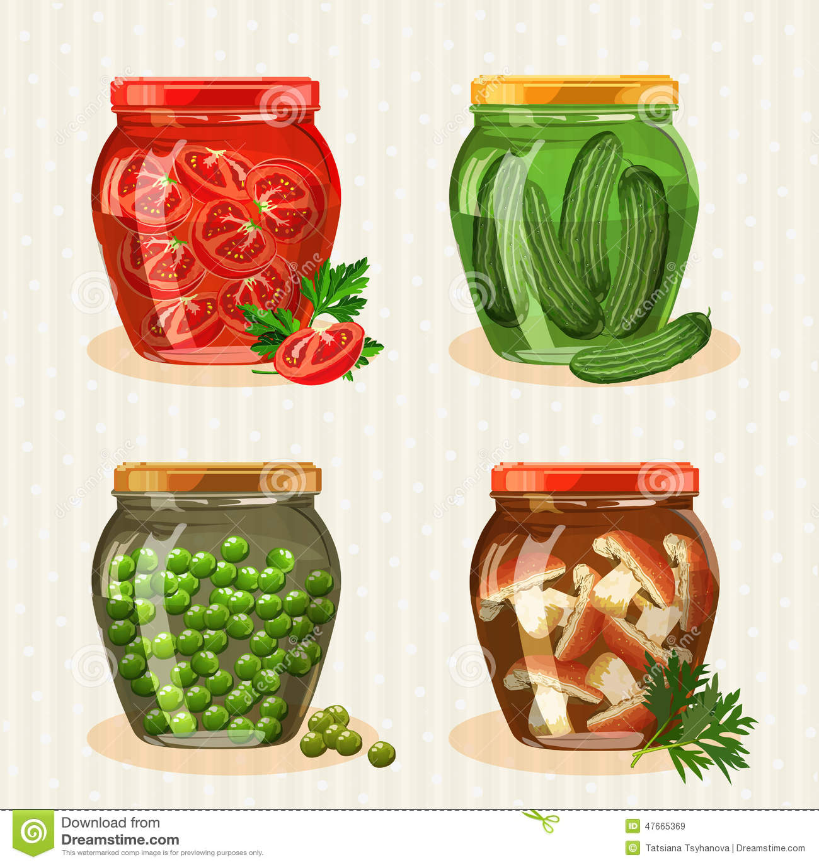 Овощи в банках рисунки